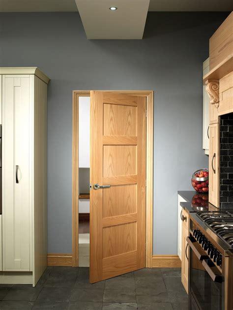 Oak Doors Exterior Shaker 4 Panel Oak Door