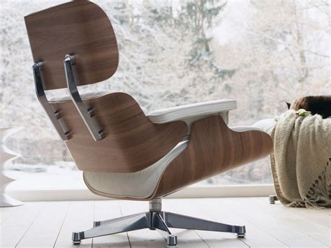 Eames Lounge Chair White Leather by Vitra Eames Lounge Chair White Walnut By Charles