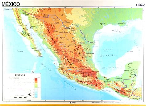 physical maps of mexico mexico map overview