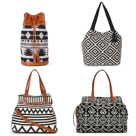 Tribal Geometric Bag geometric graphic black and white tribal bags and totes