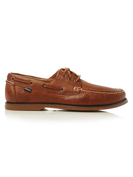 polo ralph lauren house slippers polo ralph lauren bienne lace up tumbled leather boat shoes house of fraser