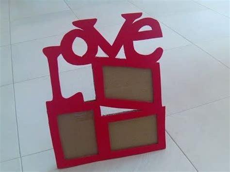 como hacer marcos con foamis imagenes marco love para 3 fotos de carton super facil youtube
