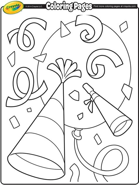 coloring pages for new years 2014 new year s confetti coloring page crayola