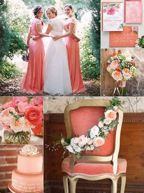 wedding philippines weddings by color motif shades of coral gold green wedding ideas