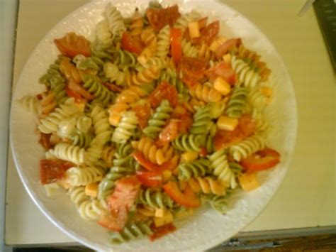 pasta salad with rotini garden rotini pasta salad recipe food com