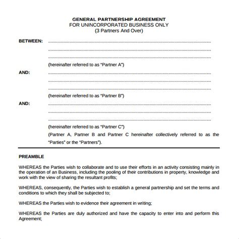 general partnership agreement sle general partnership agreement 11 documents in
