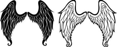 tattoo angel vector angel wings sketch icon vector tattoos pinterest