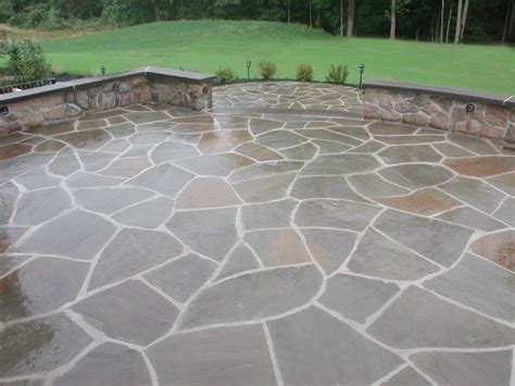 Blue Flagstone Patio by Landscaping Services Bucks Montgomery County