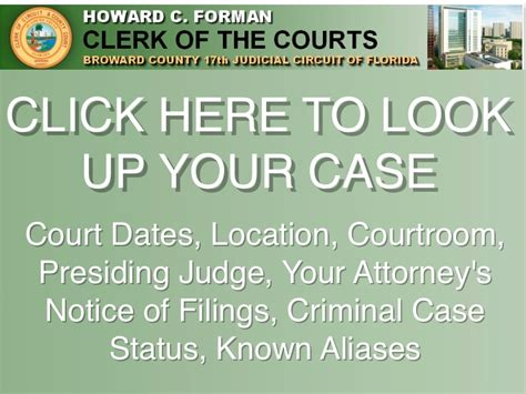 Broward County Clerk Of Courts Search Broward County Criminal Search When Is My Court