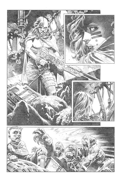 4001 A.D.: War Mother #1 Ten Page Pencil and Ink Preview