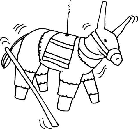 mexican donkey coloring page cinco de mayo pinata coloring page coloring page