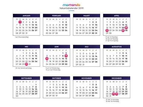 feestdagen  kalender vakantiedagen  nederland momondo