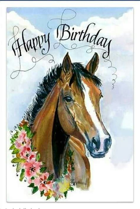 printable birthday cards with horses pin by mara koorn on birthday verjaardag pinterest