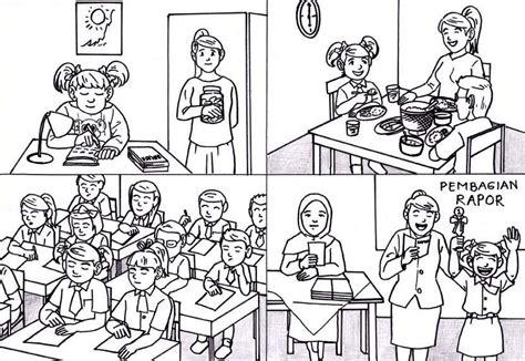 karikaturku indonesia ilustrasi kartun media pembelajaran bertema anak rajin