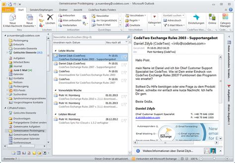 e mail eingang outlook mails teilen posteing 228 nge synchronisieren