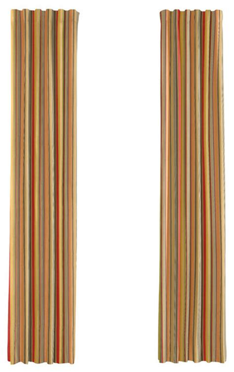 orange and red curtains orange and red striped curtain single panel ring top