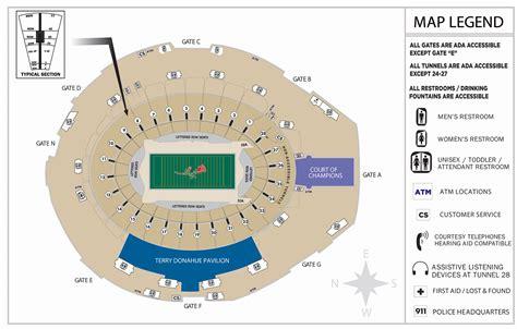 seating guide bowl stadium