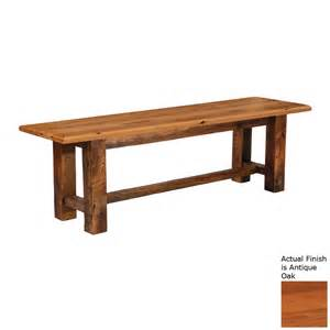 Benches Indoor Furniture Accent Shop Fireside Lodge Furniture Barnwood Antique Oak Indoor