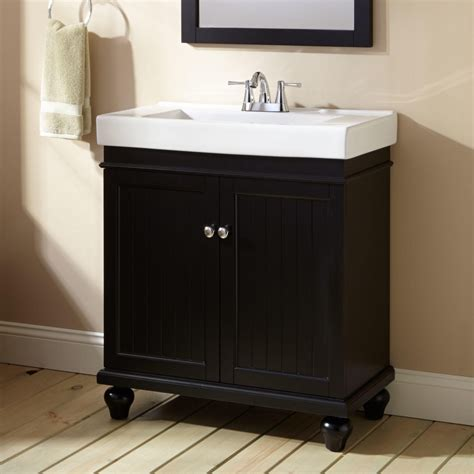 Black Bathroom Cabinet 30 Quot Lander Vanity Black Bathroom