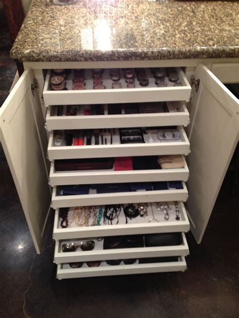 Makeup Drawers by Shallow Pullout Drawers For Makeup Jewelry Sunglasses