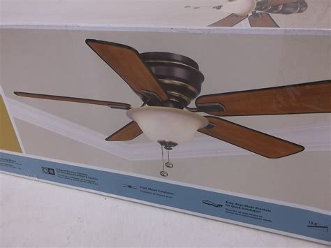 Hton Bay Hawkins Ceiling Fan hton bay hawkins 44 in tarnished bronze ceiling fan