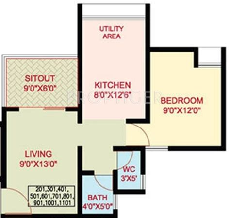 550 sq ft 1 bhk floor plan image dasnac designarch e 550 sq ft 1 bhk 1t apartment for sale in nanded city