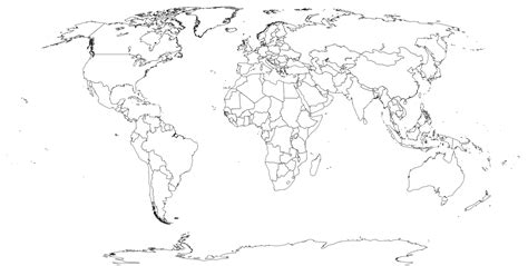 Blank Map Of Earth by Printable World Maps