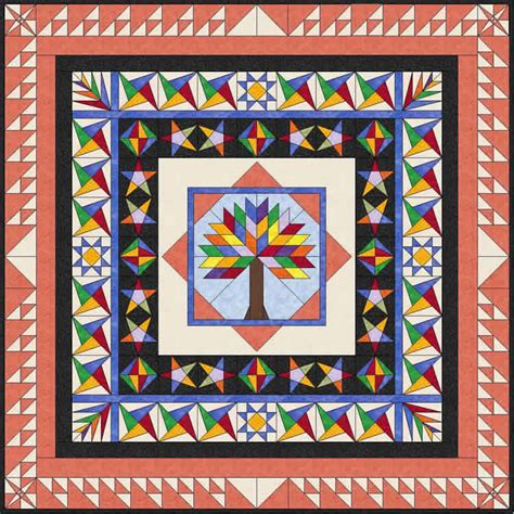 biography quilt squares block of the month tree of life