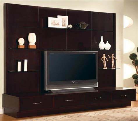 tv wall panel furniture modern flat panel tv wall mount unit stand cappuccino