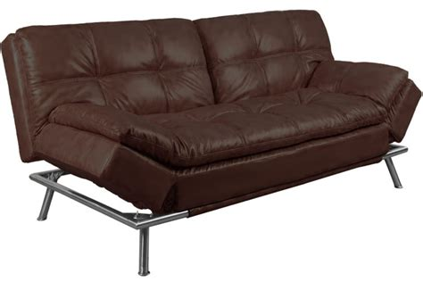 brown leather futon sofa bed best convertible futon sofabed sleeper matrix brown the