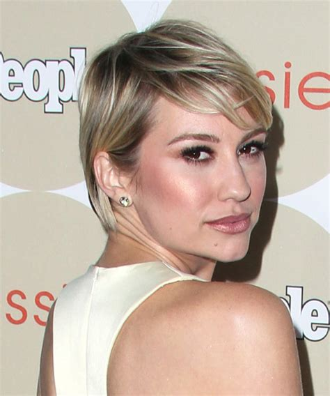 chealsea kane haircut backview chelsea kane short straight casual hairstyle with side