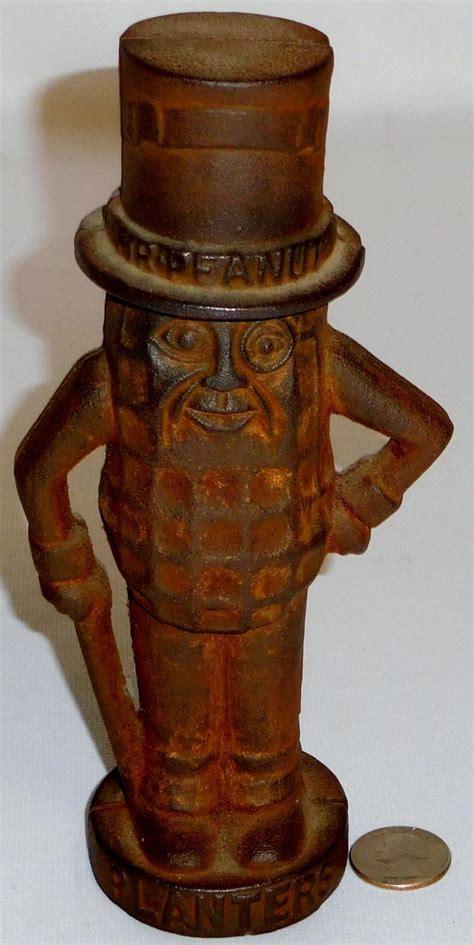 Planters Mr Peanut Collectibles by Antique Planters Mr Peanut Figural Cast Iron Coin Bank 8 Quot T