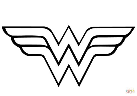 wonder woman logo printable template printable template 2017