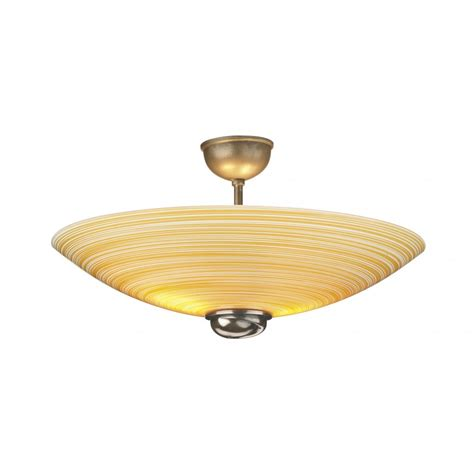 Glass Ceiling Light Ceiling Light Semi Flush Uplighter Swirl Glass Shade With Bronze