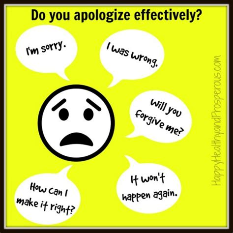 how to how to apologize effectively happy healthy prosperous
