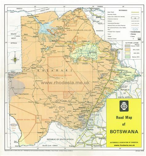 botswana map botswana roads map