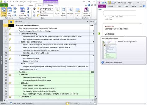 One Note Templates 2010 by Anchor To Onenote For Microsoft Project Office Onenote
