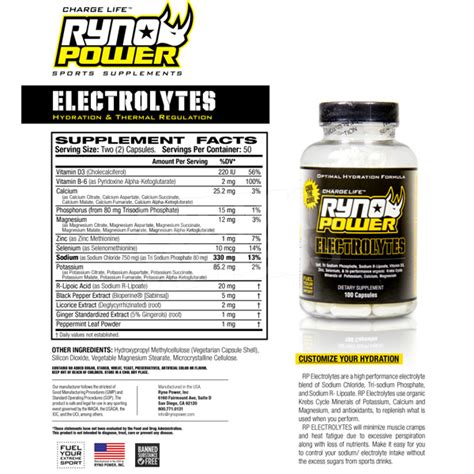 supplement electrolytes ryno power electrolytes supplement capsules dirtbikexpress