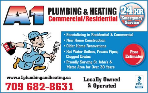 A1 Plumbing by A1 Plumbing Heating Ltd Outer Cove Nl 11 Lower Rd