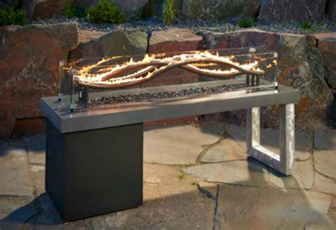 Outdoor Fireplace Table by Turn Up The Heat With A Stylish Pit