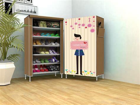 Rak Sepatu Lemari jual beli new rak sepatu kain lemari sepatu 6 ruang