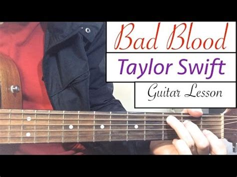 tutorial guitar taylor swift bad blood taylor swift guitar tutorial easy lesson