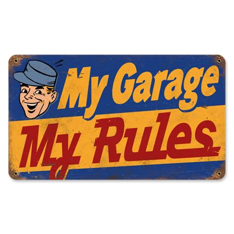 hossrods my garage my metal sign rod