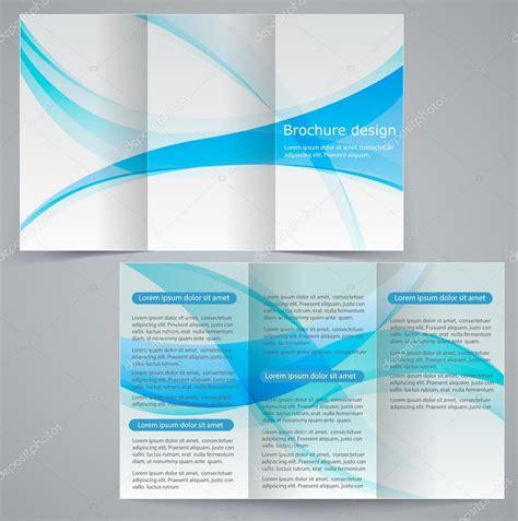 tri fold business brochure template tri fold business brochure template vector blue design