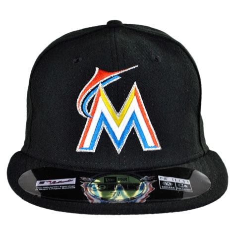 new era miami marlins mlb home 59fifty fitted baseball cap