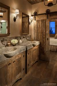 cabin bathroom designs sliding barn door designs mountainmodernlife