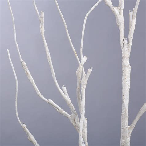 pre lighted tree creative pre lighted 48 warm led birch twig tree