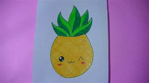 imagenes kawaii de comida para dibujar como dibujar pintar anana pi 241 a kawaii semana comida