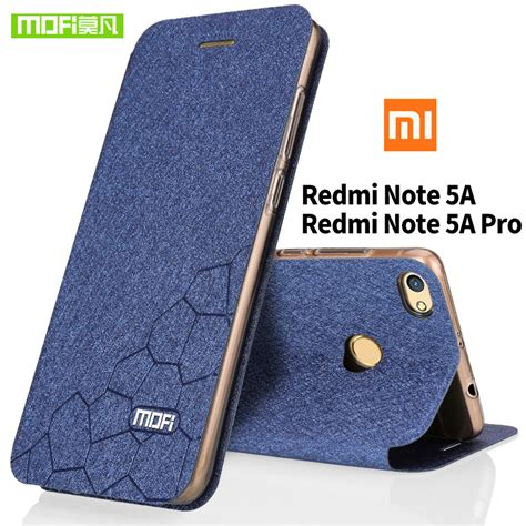 New Xiaomi Redmi Note 5a Note5a Not 5a Not5a Xiomi Ume Flip Cover Leat xiaomi redmi note 5a silicon tpu fundas mofi original xiaomi note 5a pro stand holder