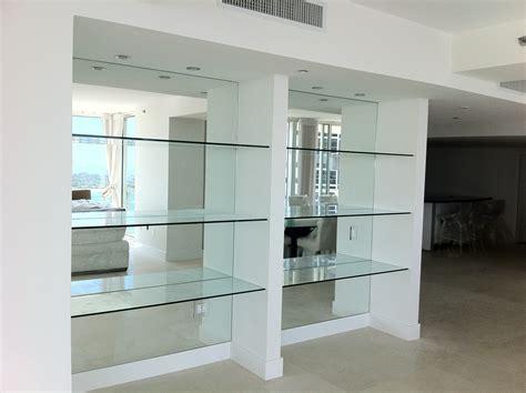 decorative glass shelves bathroom